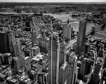 NYC Skyline B&W Photography