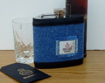 Hip Flask covered with Harris Tweed