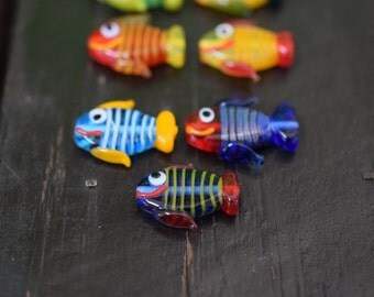 Glass Fish Beads Etsy