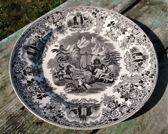Hannibal passing the Alps Porcelain Plate Charger Societe Maestricht