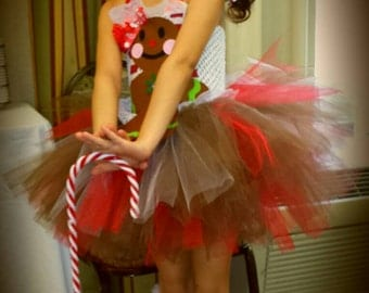 gingerbread girl dress: Christmas pageant dress, pageant theme wear available size 1-12 girls