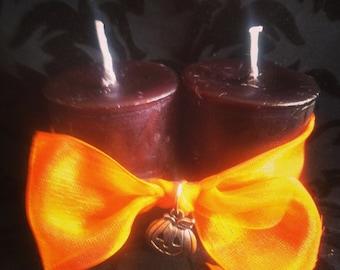 Samhain votive pair of candles