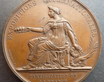 London Exhibition Medal 1874. A French Medal Awarded By The French Government To French Exhibitors. (RARE).