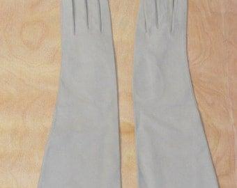 Vintage Estate Beige Leather Gloves