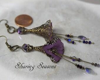 Purple Calla Lilly Earrings