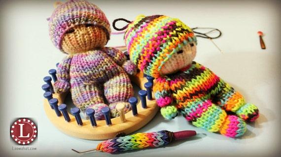 Loom Knitting PATTERNS Toys Doll Amigurumi Tiny Dolls - Includes Video Tutori...