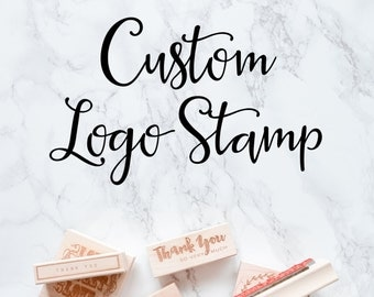 Custom Logo Stamp for Your Small Business, Etsy Shop, Custom Logo Stamp, Stamp for Packaging or Shipping, Brand Stamp, Wood Mounted