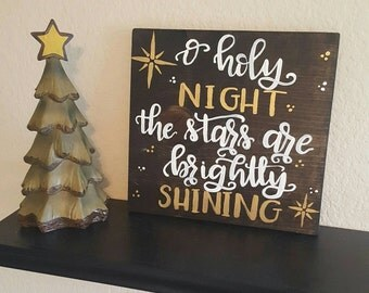 Custom, hand lettered, hand painted double sided wooden sign