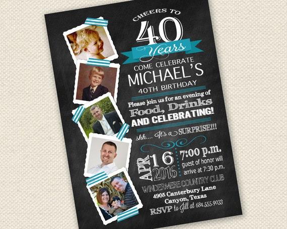 40Th Birthday Invitations is luxury invitations sample