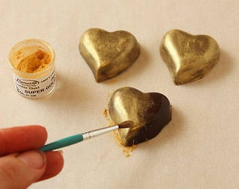 High Quality Edible Super Gold Shimmer Dust/ Edible Gold Dusting Paint/ Edible Gold Luster Dust for Fondant/ Edible Gold Shimmer Dust Paint