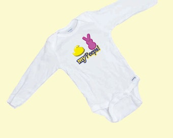My Peeps  Funny Baby Long Sleeve  Onesie / Romper Makes a Great Gift