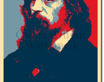 Alfred Lord Tennyson Original Art Print - Photo Poster Gift