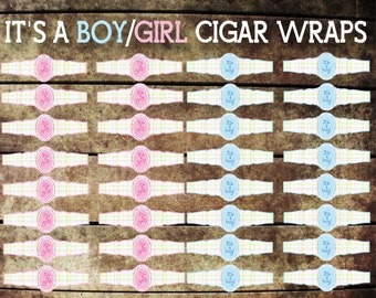 It's A Boy/Girl Cigar Wraps, Printable