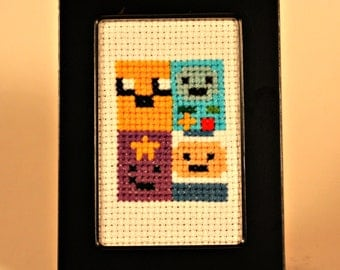 Adventure Time Characters Cross Stitch