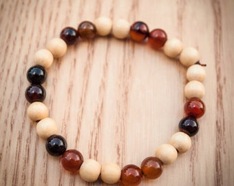 Wood and Gemstone Bracelet 10