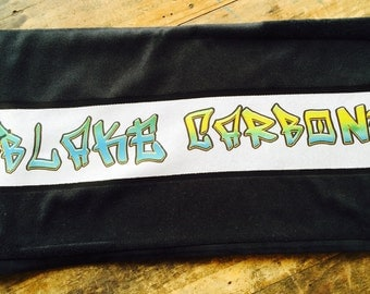 Personalised Graffiti Towel with Name of choice Black