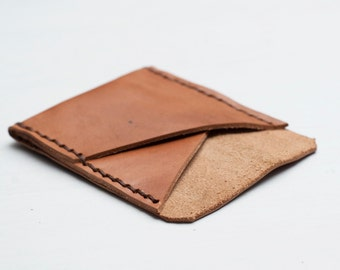 Men's Veg Tanned Leather Card Wallet