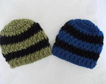 Crochet twin hats Twin hat set Newborn twin hats Twin boy hats Twin boy beanies Crochet baby hats Twins winter hats Twin boy outfits