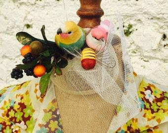 Handmade bird fascinator
