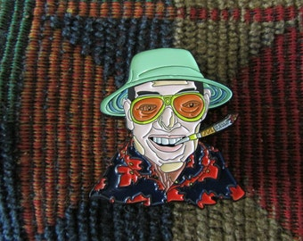 Hunter S Thompson Fear and Loathing in Las Vegas Enamel Lapel Hat Pin