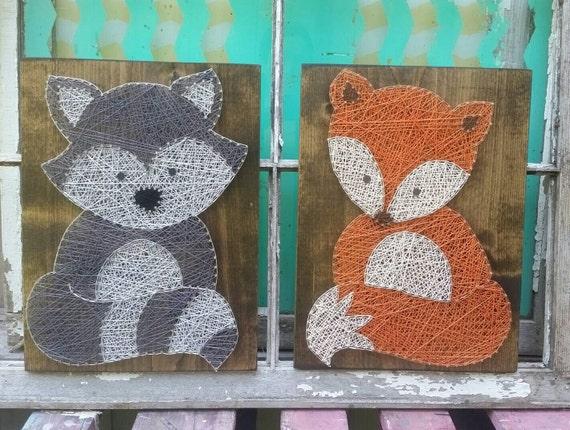 Forest Friends String Art Woodland Animal Wall Art Fox