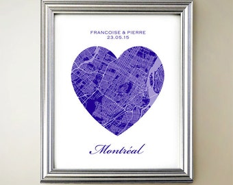 Montreal Heart Map
