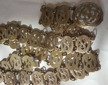 Antique EPNS Edwardian chain link antique ornate metal links and buckle from antique/estate aution