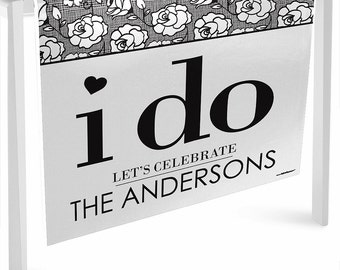 I Do - Runner - Custom Wedding Party Decorations - Personalized Party Supplies