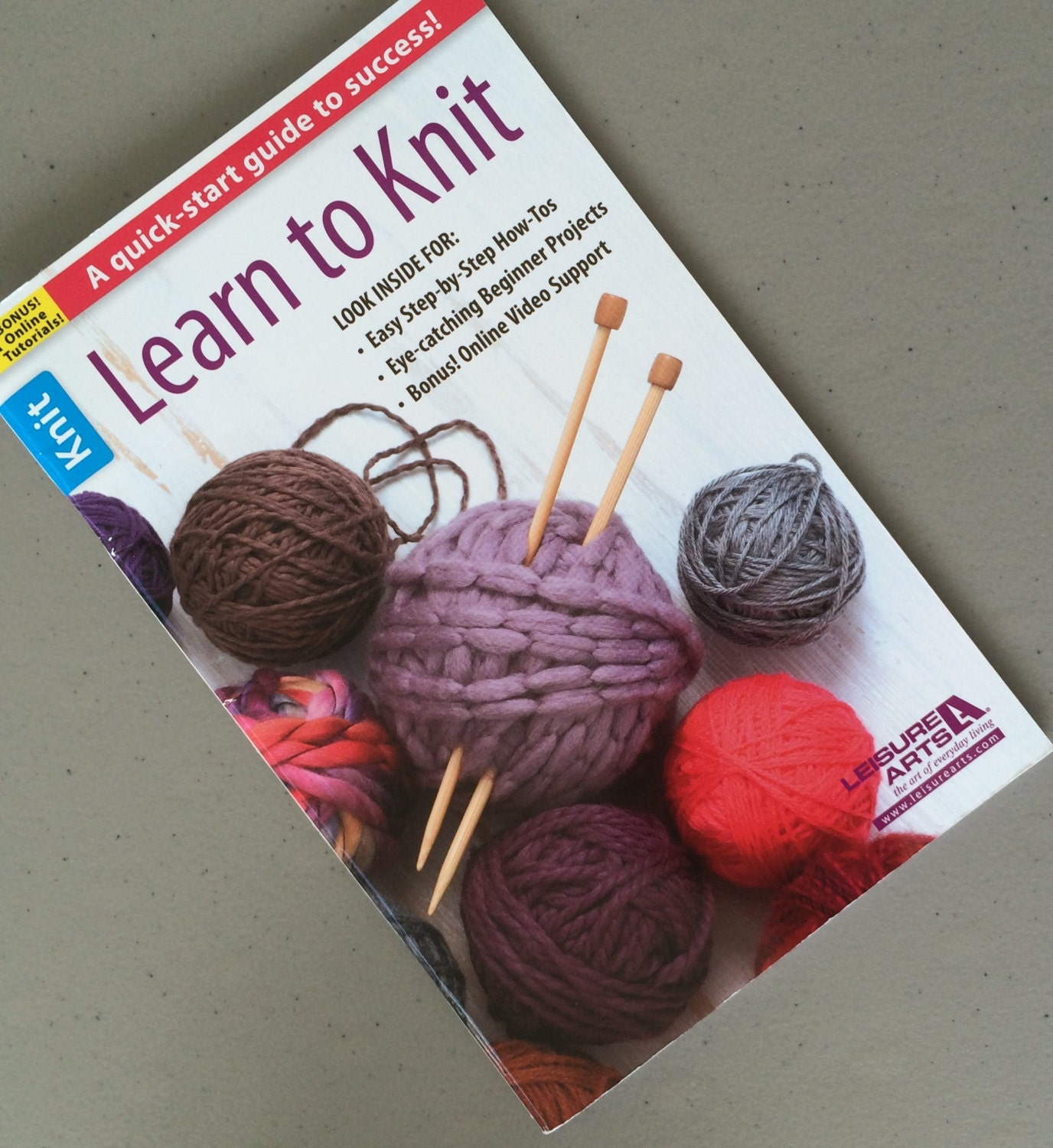 Knitting Basics Getting Started : Learn to knit kit beginner knitting book how get started