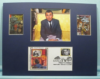 The Twilight Zone hosted by Rod Serling & First Day Cover of Twilight Zone Stamp