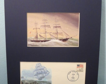 Famous Sailing Ships - The Clipper Ship as epitomized by The Flying Cloud & Commemorative Cover