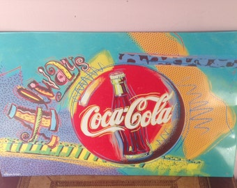 Coca Cola Vintage Advertising Sign by Artwork 1995 Always Coca Cola