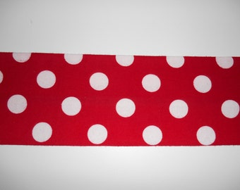 Microwavable Heat Pack, Rice or Organic Flax Seed, Neck Warmer, Heating Pad, Red with White Dots