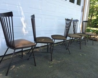 1950's Rod Iron Dining Chairs