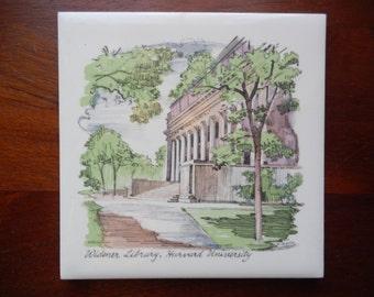 Vintage Harvard University Trivet!