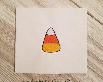 Candy Corn Mini Design - Machine Embroidery Design Instant Download