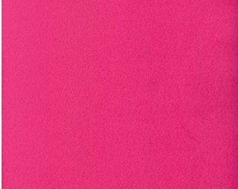 Remnant - Solid Pink Polar Fleece Fabric 34in