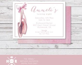 Printable - The 'Anneli' Birthday Invitation | Ballet | Tutu | Dance