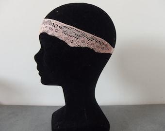 Pink lace headband