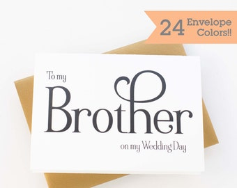 Wedding Card to your Brother, Wedding Cards, Thank you card for Brother (WC063-WA)