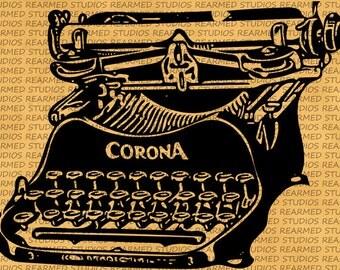 Vintage Corona Typewriter Vector Image - INSTANT DOWNLOAD