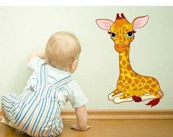 20% SALE - FREE SHIPPING Baby Giraffe nursery wall decal, deco, sticker, mural, vinyl wall art