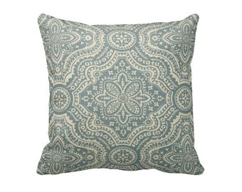 6 Sizes Available: Teal Blue Decorative Throw Pillow Cover Blue Pillow Accent Pillow 12x16 18x18 20x20 22x22 24x24 Inches