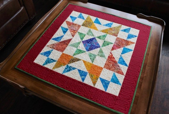 Quilt Pattern Table Topper Mini Quilt Ohio Star Size: