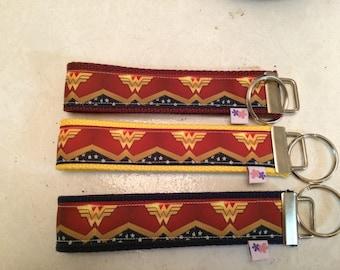 Wonder woman wrist key chain key fob wristlet