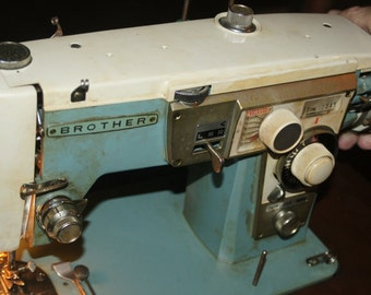 Vintage Antique Brother Sewing Machine With Cabinet