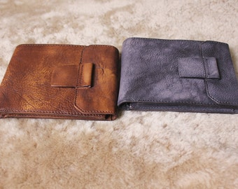 Personalized Men's Leather Wallet,Short Leather Wallet,Men's Wallet,Handmade Wallet, Minimalist Wallet,Gifts For Him