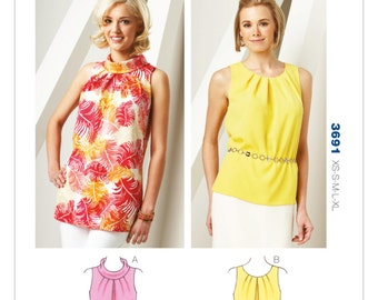 Kwik Sew Pattern K3691 Misses' Tuck-Neck Tunic and Top