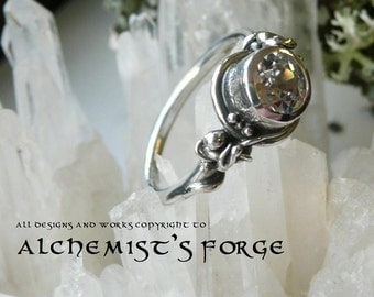 Lab Diamond Ring with organic detail