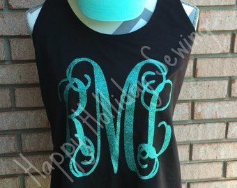 Monogrammed Tank and Matching Hat